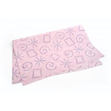 Papel de Embrulho rosa com...