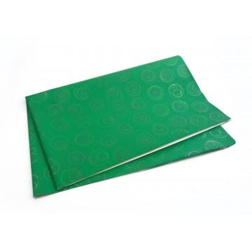 Papel de Embrulho verde com...